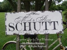 Vintage Wedding Signs by My Primitive Boutique Vintage Wedding Signs, Established Sign, What Is Advertising, Rustic Wood Signs, Rustic Elegance, Personalized Signs, Name Signs, Elegant Wedding, Wedding Decorations