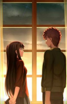 Fate Series - Rin Toshaka and Shirou Emiya Anime Meme, Rin Tohsaka, Fate Stay Night Rin, Fate Archer, Fate/stay Night, Shirou Emiya, Fate Anime Series, Elsword, Fate Zero