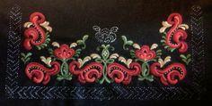 Folk Embroidery, Hand Embroidery Stitches, Embroidery Ideas, Machine Embroidery, Chinese Patterns, Norway, Nativity, Folk Art, Scandinavian