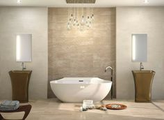 Harmony and serenity in this #bathroom with the 2212 series. #design #ceramics…