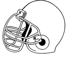 Printable Helmet For Football Coloring Pages