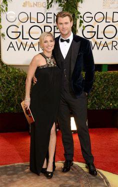 Chris Hemsworth in Dolce&Gabbana tuxedo and Martin Katz cufflinks #suits