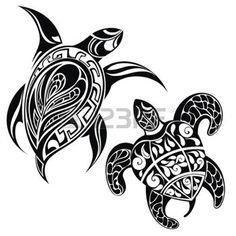 tatuering: Sköldpadda en siluett