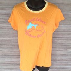 NWT J. Crew T-Shirt Cute blue dolphin is felt material stitched on. J. Crew Tops Tees - Short Sleeve