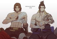 ((open rp, be hanzo and mccree, overwatch)) *i put piece of cloth into cold water and Then go to Then. Start washing mccree wound on chest. Suddenly he grabbed my wrist and pull me on His lap* mccree: Clean from this position~ hanzo: *chuckle as i blush* Overwatch Hanzo, Overwatch Comic, Overwatch Memes, Overwatch Fan Art, Widowmaker, Genji And Hanzo, Character Art, Character Design, Hanzo Shimada