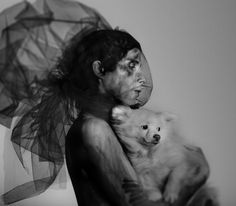 Chris Corner of IAMX with his dog Polar photo via Renee McMahon