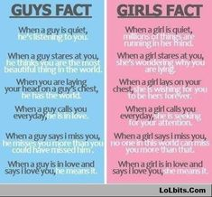 Boys VS Girls - Just The Facts