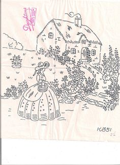 Crinoline Lady and House