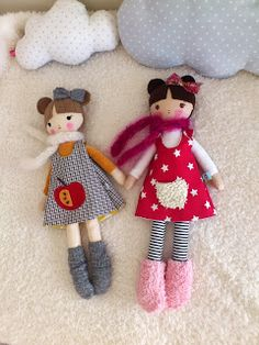 betsypetsy handmade: lale do przytulania / soft dolls Tiny Dolls, Soft Dolls, Cute Dolls, Doll Sewing Patterns, Sewing Dolls, Softies, Handmade Soft Toys, Fabric Toys, Doll Crafts