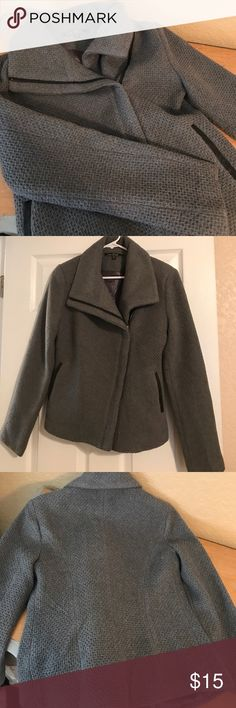 Peacoat Grey sassy pea coat. Excellent condition. Never worn. Lightweight but enough coverage for chilly evenings or trying not to freeze at the movies. Can be used casually or over business attire. Love Stitch Jackets & Coats Pea Coats