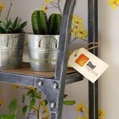 Steel Magnolias Bookshelf in Pewter - close up detail