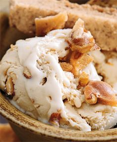 Brown Butter and Peanut Brittle Ice Cream