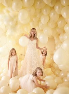 If you're smart, you'll take your wedding as an opportunity to fill a room with white balloons and have your picture taken there!