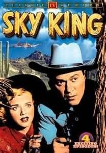 Sky King TV Show -- a plane and horses -
