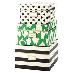 Kate Spade Nesting Boxes - Closet Storage - Organization
