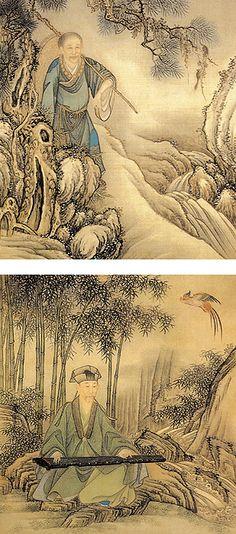 《胤行乐图》  清 佚名 绢本设色 纵34.9厘米 横31厘米 北京故宫博物院藏      清世宗胤,年号雍正,康熙第四子,清朝第三代皇帝,在位十三年。