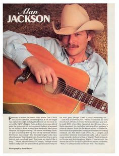 ALAN JACKSON Love that picture! I usually prefer brown men but... he's soo sexy!