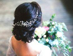 Bridal hair vine Wedding hair accessories bridal halo by RainbowUA