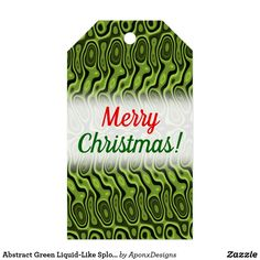 Abstract Green Liquid-Like Splotch Pattern Gift Tags - christmas craft supplies cyo merry xmas santa claus family holidays Holiday Gift Tags, Christmas Holidays, Merry Christmas, Christmas Gifts, Family Holiday, Craft Supplies, Outdoor Blanket, Diy, Abstract