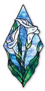 diamond shaped calla lilly pattern