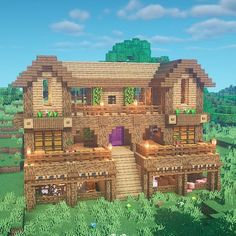Minecraft Cottage, Cute Minecraft Houses, Minecraft Mansion, Minecraft House Tutorials, Minecraft Houses Survival, Minecraft Plans, Minecraft City, Amazing Minecraft, Minecraft House Designs