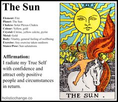 Wouldyou like to feel supreme self-confidence? Are you ready to embrace the GIFTthat is YOU and radiate your True Self into the world? The Tarot Sun archetype is a young, radiantly happy child. T...