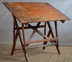 KEUFFEL & ESSER Drafting Table Antique Vintage Factory Industrial Art Drawing