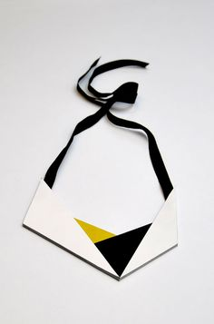 Visibly Interesting: Aumorfia Origami leather necklace
