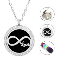 Damen Edelstahlkette Infinity - Love Anhänger Infinity Love, Washer Necklace, Piercing, Jewelry, Great Gifts, Crystals, Sachets, Women's, Jewlery