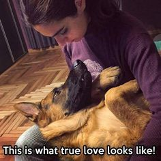 and it goes both ways: from dog to owner and master to beloved pet
