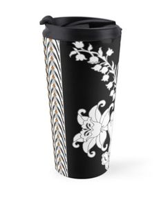 """""""Palace Garden"""" Travel Mugs by PolkaDotStudio 