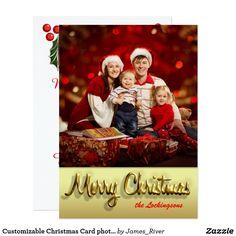 Customizable Christmas Card photo typography