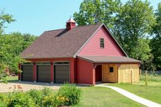 Lean-To Overhangs: The Barn Yard & Great Country Garages Diy Shed Plans, Barn Plans, Garage Plans, Garage Ideas, Pole Barn Garage, Garage House, Garage Doors, Boat Garage, Pole Barns
