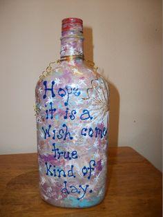 Painted bottle back
