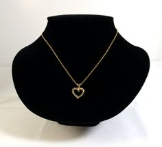Heart Pendant Necklace by KatsCache on Etsy, $19.95