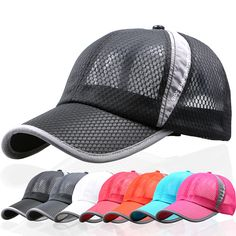 High-quality Men Women Summer Breathable Mesh Cap Outdoor Sports Shade Baseball Cap - NewChic
