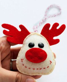 reindeer ornament:  Use your prim creativity and make it out of grungy fabrics!