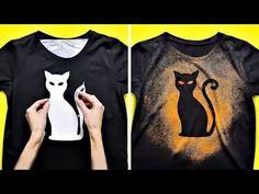 Hacks with old clothes Bleach Shirt Diy, Diy Tie Dye Shirts, Shirt Refashion, T Shirt Diy, Gebleichte Shirts, Paint Shirts, T Shirt Painting, Tshirt Painting Ideas, Tie Dye Crafts