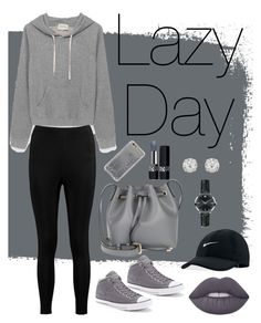 """Lazy Day"" by maureak ❤ liked on Polyvore featuring Boohoo, Converse, NIKE, Agent 18, Lime Crime, Coccinelle, Christian Dior, Movado and Accessorize"