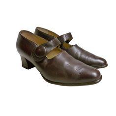 Mary Janes leather shous vintage 30s pumps di vintageinfashion