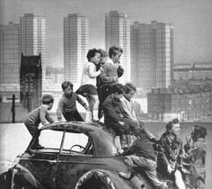 Towards Red Road Flats Glasgow, 1960s