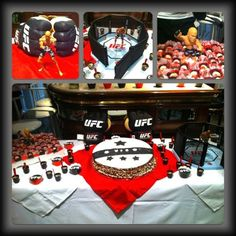 UFC party pic. Good ideas for Josh's 9th this year