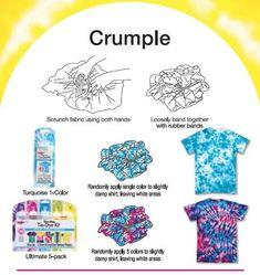 Crumple Tie Dye Technique - Crumple Tie Dye Technique- Crumple Tie Dye Technique – Check out this how to tie dye tutorial and learn a brand new tie-dye technique. Source by - tye dye shirts with food coloring simple Tye Dye, Fête Tie Dye, Tie Dye Party, How To Tie Dye, Tie And Dye, How To Dye Fabric, Tie Dye Crumple, Tie Dye Tips, Tulip Tie Dye