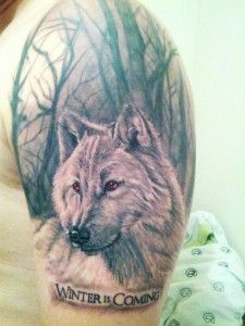 Wolf with red eyes in woods tattoo. Find and save ideas about Wolf with red eyes in woods tattoo on Tattoos Book. More than FREE TATTOOS Wolf With Red Eyes, Javi Wolf, Wood Tattoo, Tattoo Art, Game Of Thrones Tattoo, Wolf Tattoo Design, Gaming Tattoo, Literary Tattoos, Dire Wolf