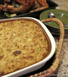 BEST EVER Cornbread Dressing Recipe that is super easy to make!