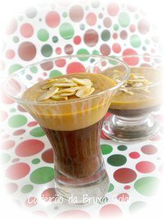 Chocolate ganache and milk caramel cream