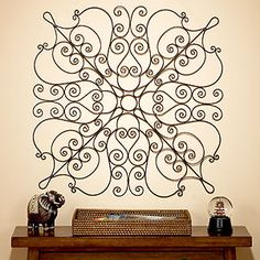 Lucca Metal Scroll Wall Panel (World Market): The other panel I was looking at but they only had one - $39.99