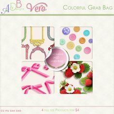 Commercial Use :: Grab Bags :: NSD Colorful Grab Bag by Vero & ADB Designs