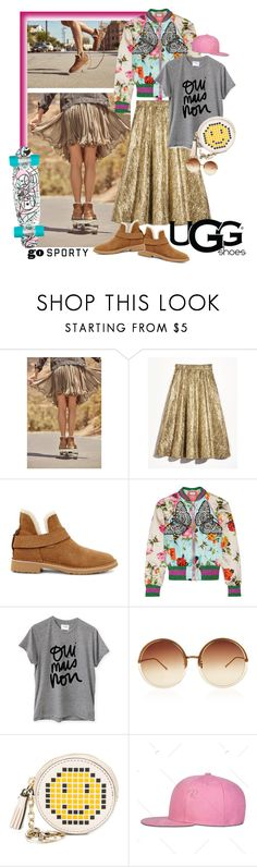 """""""The New Classics With UGG: Contest Entry"""" by elafashionable ❤ liked on Polyvore featuring UGG, Lela Rose, Gucci, Sincerely, Jules, Linda Farrow, Anya Hindmarch and ugg"""