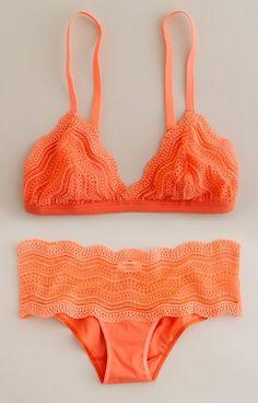Orange swim suittt